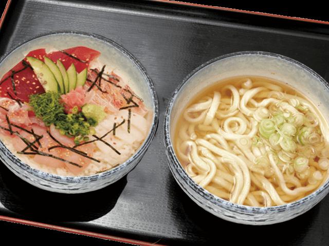 海鮮丼うどんセット