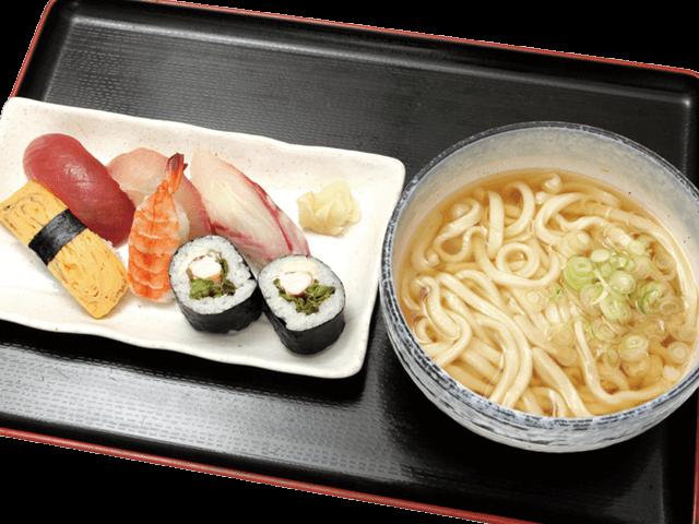 握り寿司レタス巻きうどんセット