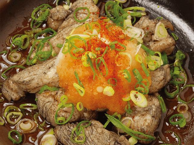 地鶏炭火焼ポン酢