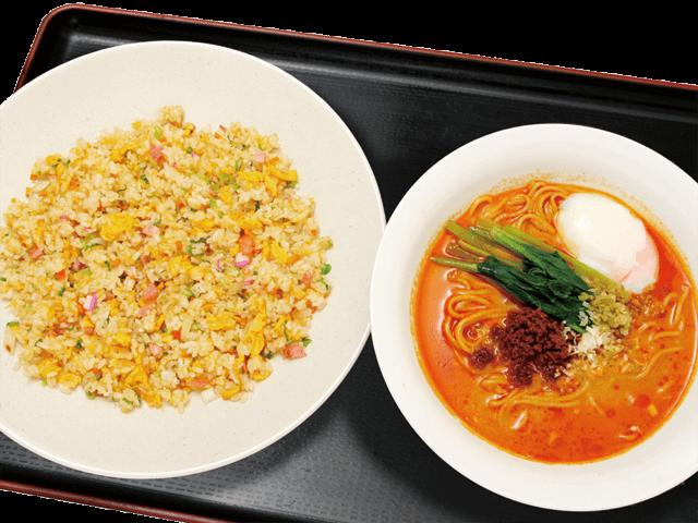 担々麺(半)と炒飯セット