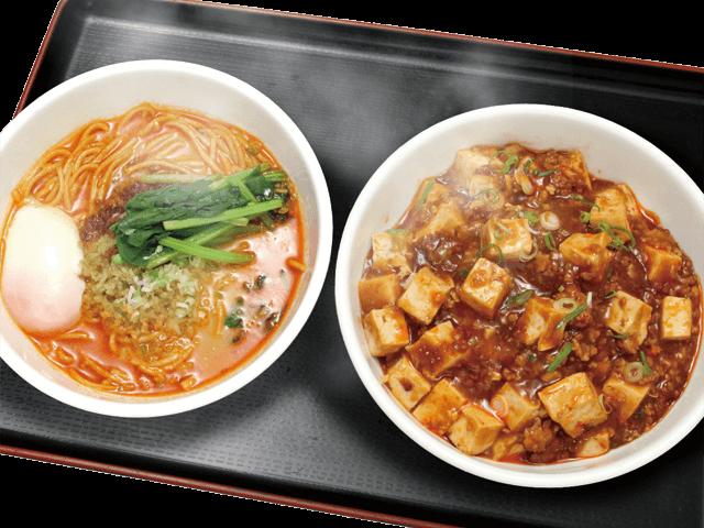 担々麺(半)と麻婆飯セット
