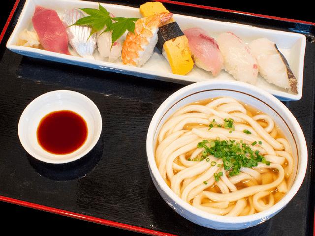 握り寿司8貫うどんセット