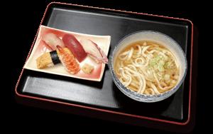 握り寿司5貫うどんセット